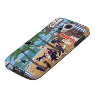 Island Summer Vacation Labradors Galaxy S4 Case