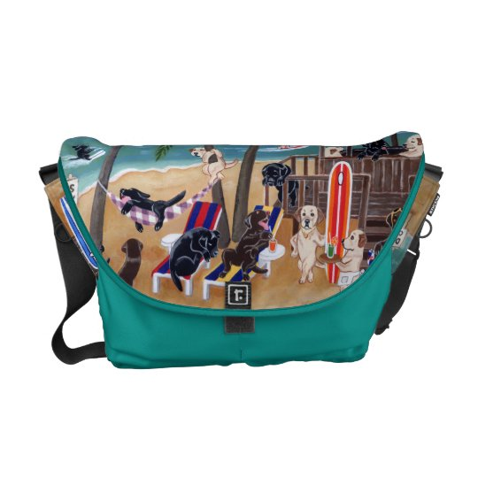 Island Summer Vacation Labradors Messenger Bag