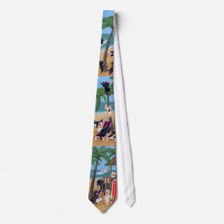 Island Summer Vacation Labradors Neck Tie