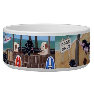 Beach Themed Island Summer Vacation Labradors Painting Bowl