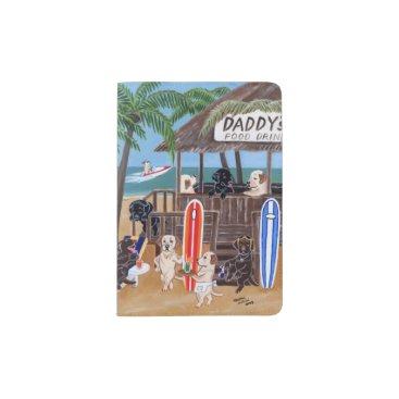 Beach Themed Island Summer Vacation Labradors Passport Case. Passport Holder