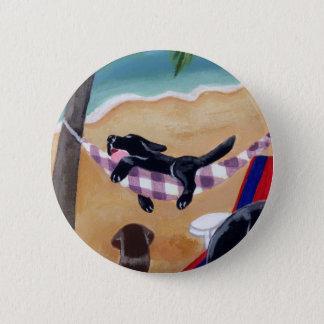 Island Summer Vacation Labradors Pinback Button
