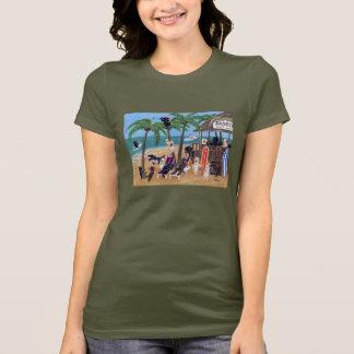 Island Summer Vacation Labradors T-Shirt