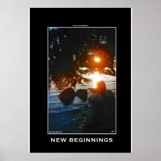 ISLAND SUNRISE Inspirational Nature Poster Print
