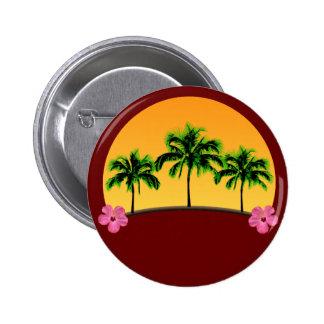 Island Sunset 2 Inch Round Button