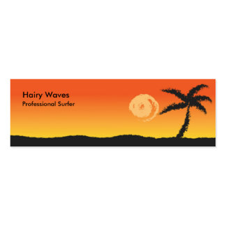 Island Sunset Double-Sided Mini Business Cards (Pack Of 20)