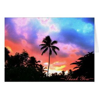 Island Sunset Card