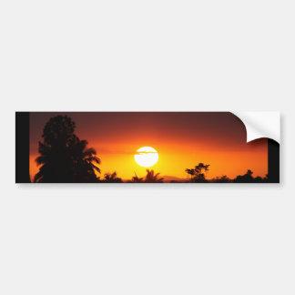 Island Sunset I Car Bumper Sticker