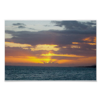 Island Sunset II Poster