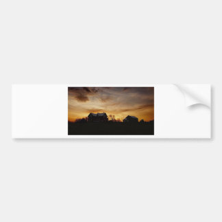 Island sunset over the farm bumper sticker