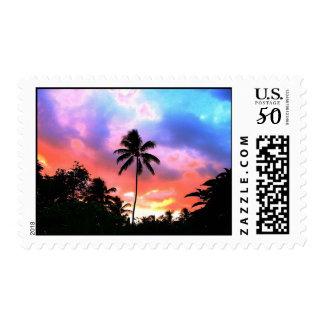 Island Sunset Stamp