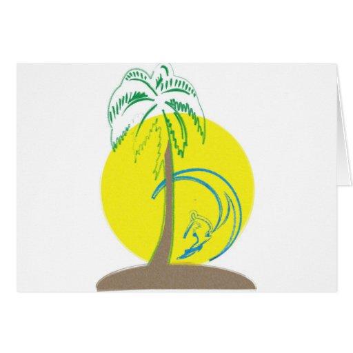 Island Surf Greeting Card