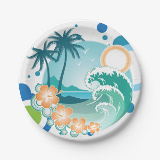 Island Surf Paper Plates