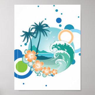 Island Surf Poster