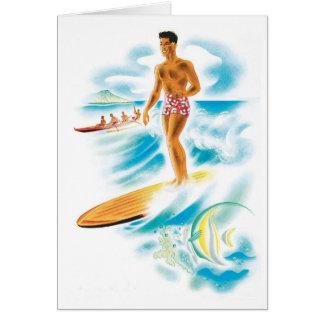 Island surfing card