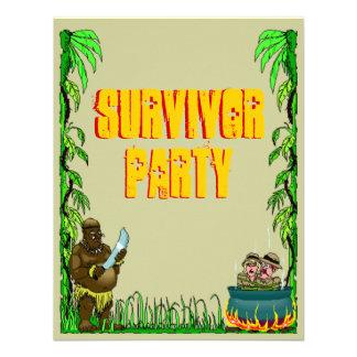 Island Survivor Fun Themed Party Invitations