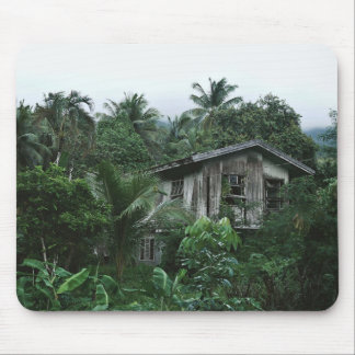 Island Themed, Isolated Green Island Ancestral Hom Mouse Pad