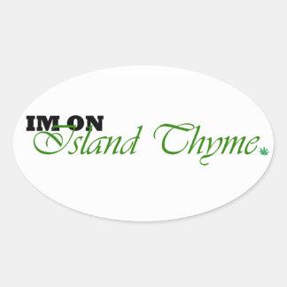 Island Thyme logo stickers
