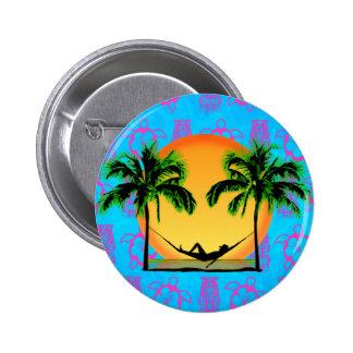 Island Time 2 Inch Round Button