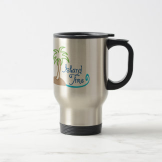 ISLAND TIME APPLIQUE COFFEE MUGS