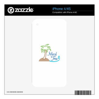 ISLAND TIME APPLIQUE iPhone 4 DECAL
