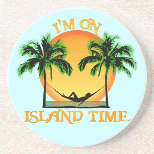 Island Time Beverage Coaster