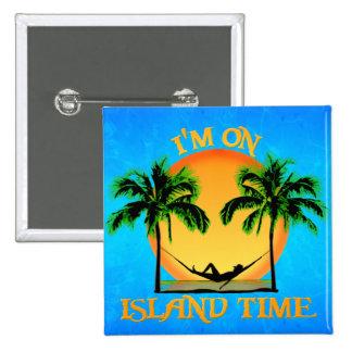 Island Time Pinback Button