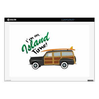 """Island Time Car 17"""" Laptop Skin"""