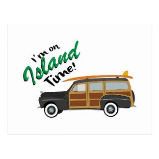 Island Time Car Postcard