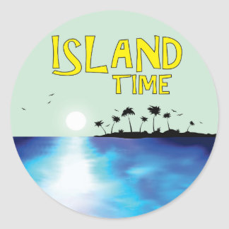 Island Time Classic Round Sticker