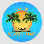 Island Time Classic Round Sticker