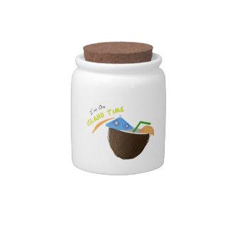 Island Time Drink Candy Jar