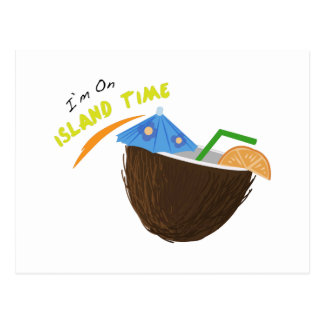 Island Time Drink Postcard