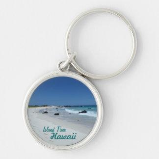Island Time Hawaii scenic beach souvenir keychain