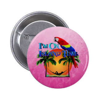 Island Time In Hammock 2 Inch Round Button