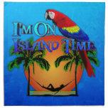 Island Time In Hammock Cloth Napkin