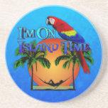 Island Time In Hammock Coasters