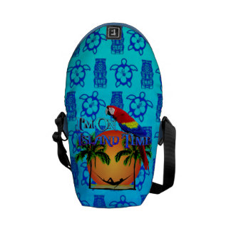 Island Time In Hammock Courier Bag