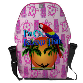 Island Time In Hammock Courier Bags