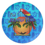 Island Time In Hammock Dinner Plates