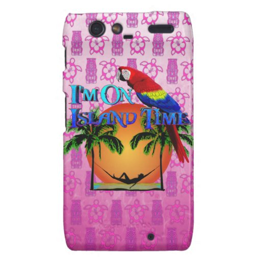 Island Time In Hammock Droid RAZR Cover
