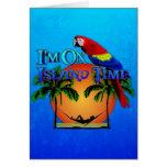 Island Time In Hammock Greeting Card