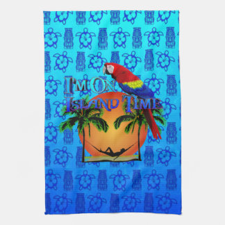 Island Time In Hammock Hand Towel