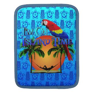 Island Time In Hammock iPad Sleeve