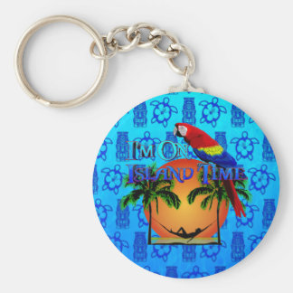 Island Time In Hammock Key Chain