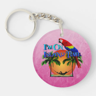 Island Time In Hammock Acrylic Key Chain