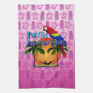 Island Time In Hammock Kitchen Towel