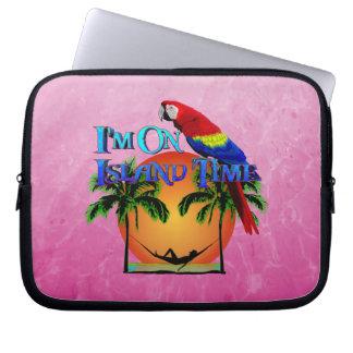 Island Time In Hammock Laptop Sleeve