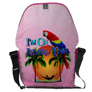 Island Time In Hammock Messenger Bag