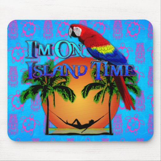 Island Time In Hammock Mouse Pad